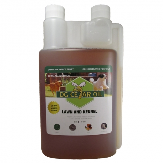 Cedar oil pest control solutions for dog and cat kennels and yards